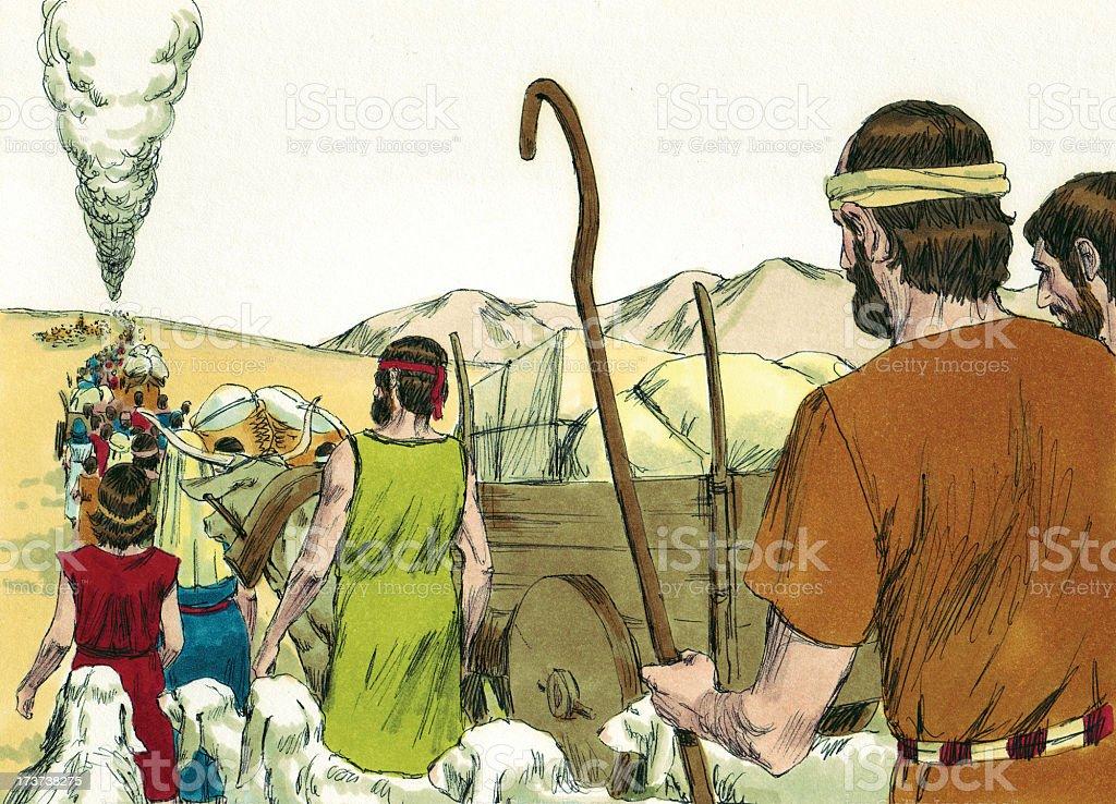 Moses, Israelites, Pillar of Smoke stock photo