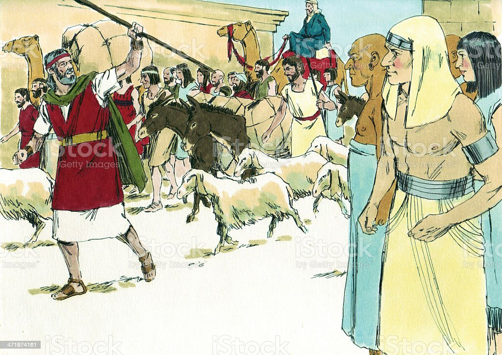 Moses Leads Israelites Out of Egypt stock photo