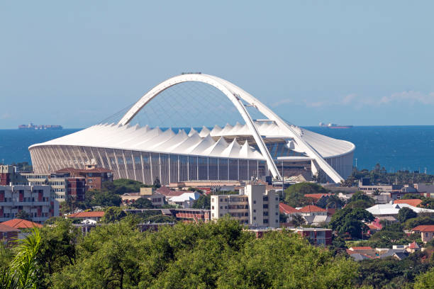 Moses Mabhida Stadium and Coastal Skyline in Durban – Foto