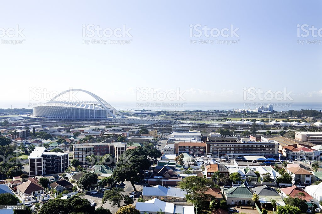 Moses Mabhida stadium Durban South Africa stock photo