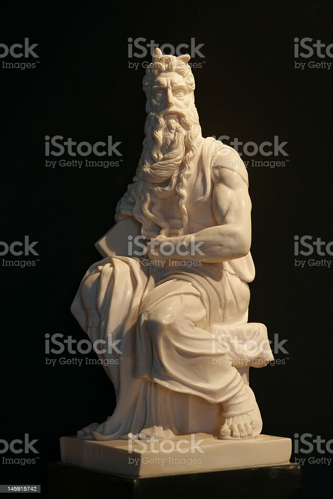Moses replica by Michelangelo stock photo