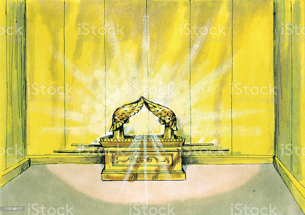 Moses, Tabernacle, Covenant Box stock photo