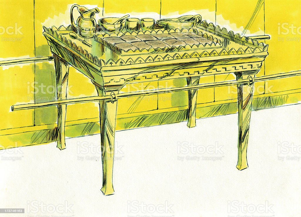 Moses, Tabernacle, Table in Holy Place stock photo