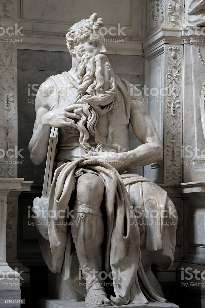 Moses - The Great Conductor of the Bible stock photo