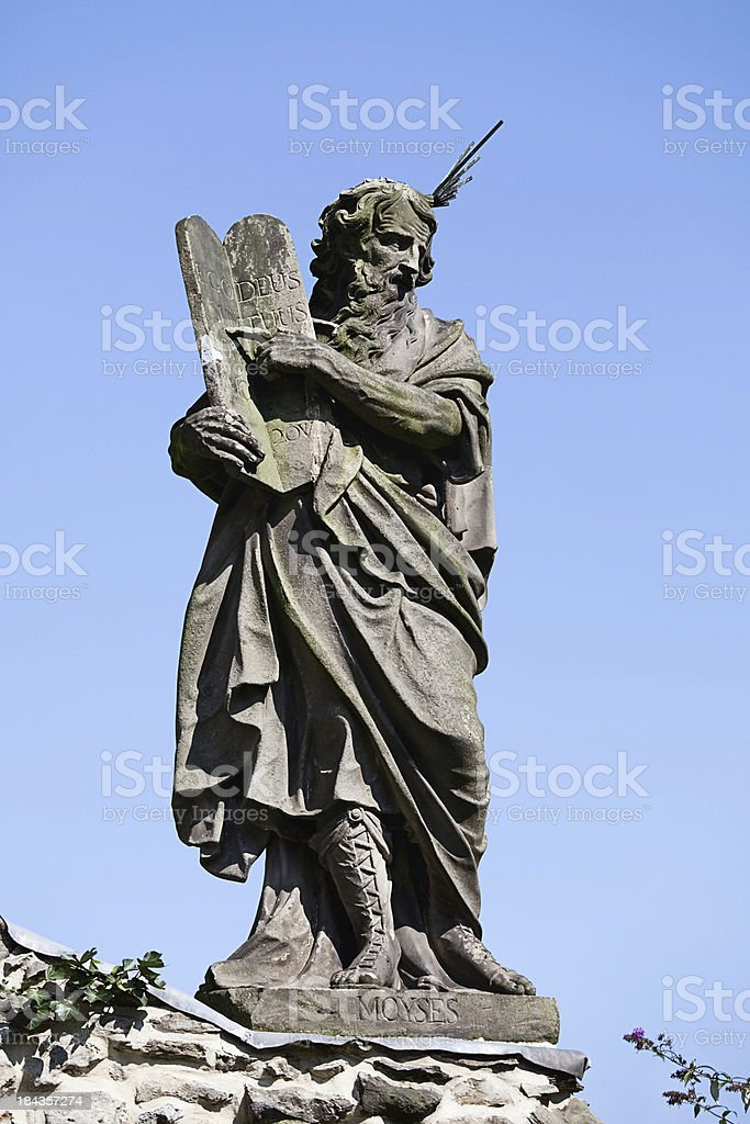 Moses with commandments royalty-free stock photo