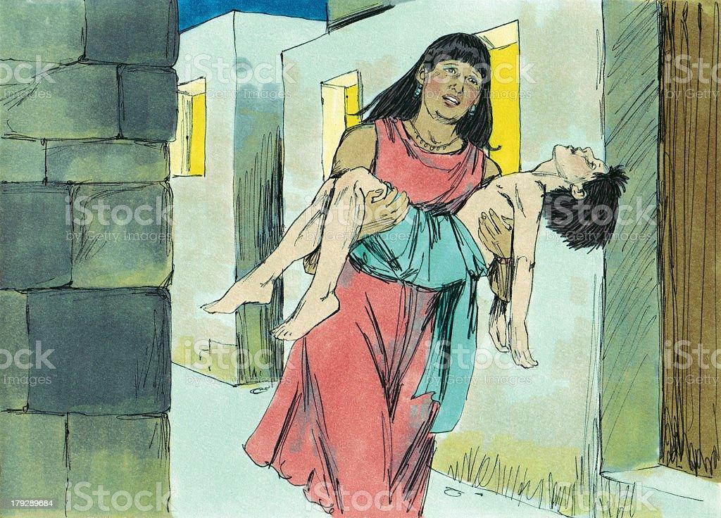 Moses--Egyptian Boy Dies stock photo