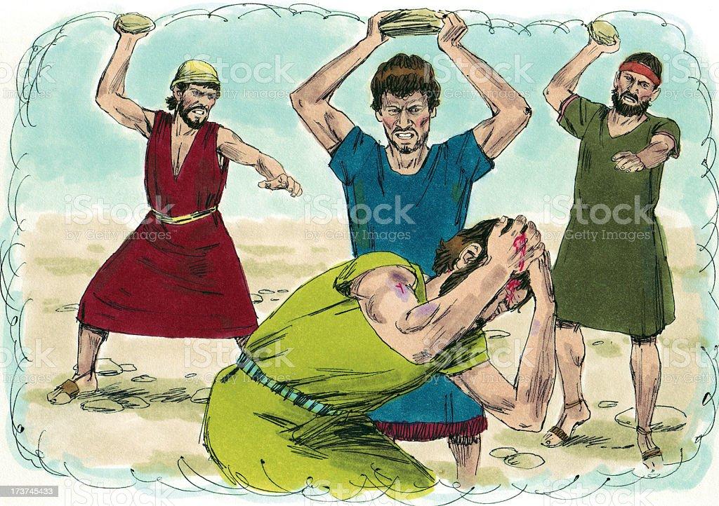 Moses--Israelites Die stock photo