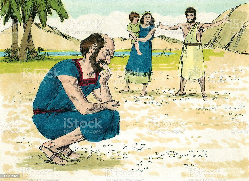 Moses--Israelites in Wilderness stock photo