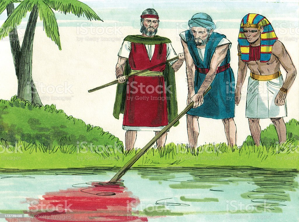 Moses--Nile River Turned to Blood stock photo