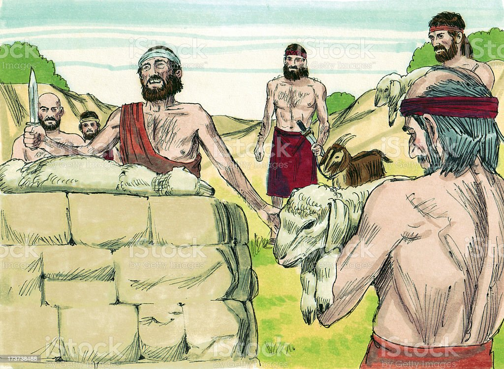 Moses--Passover Sacrifice Lamb stock photo