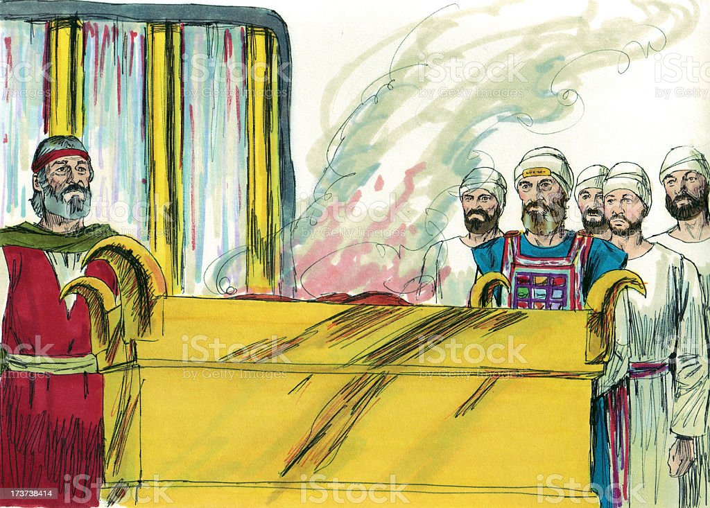 Moses--Tabernacle Sacrifice stock photo
