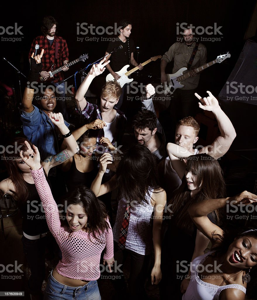 Mosh Pit at a Rock Concert stock photo