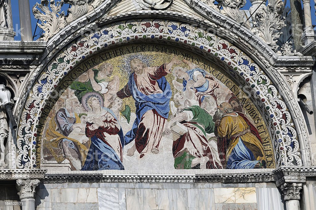 Mosiac on the Basilica San Marco royalty-free stock photo