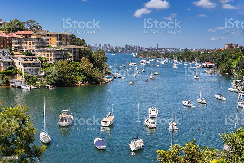 Mosman Bay in Sydney stock photo