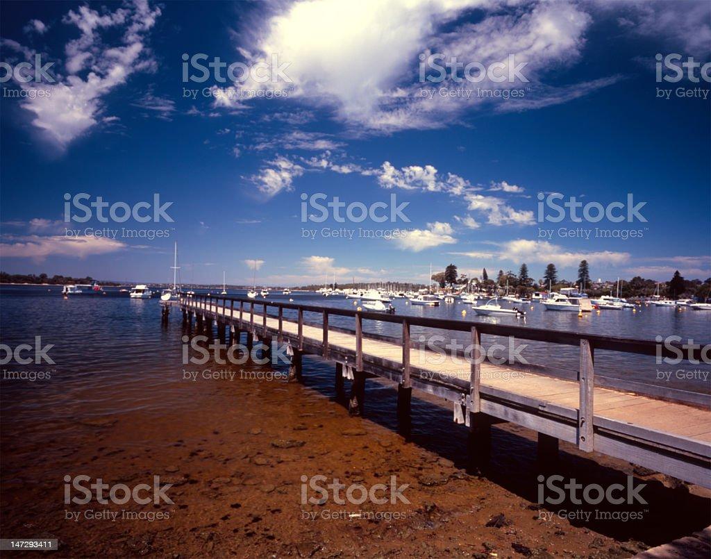 Mosman Bay Jetty - Peppermint Grove stock photo