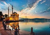 istock Mosque and Bosphorus bridge 1283504873