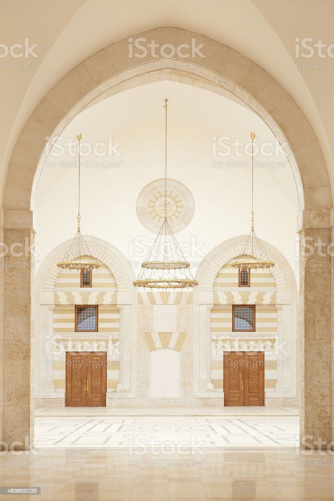 Mosque architecture in Amman, Jordan stock photo