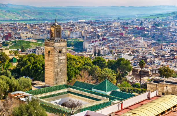 Mosque at Bab Guissa Gate in Fez, Morocco – Foto