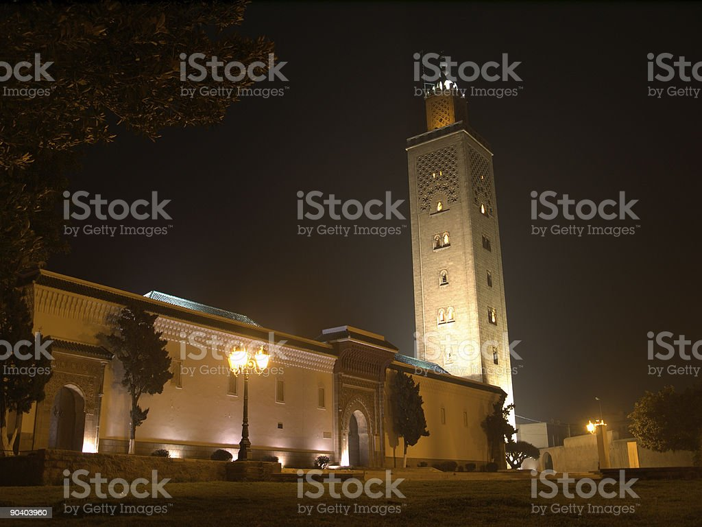 Mosque at Night stock photo
