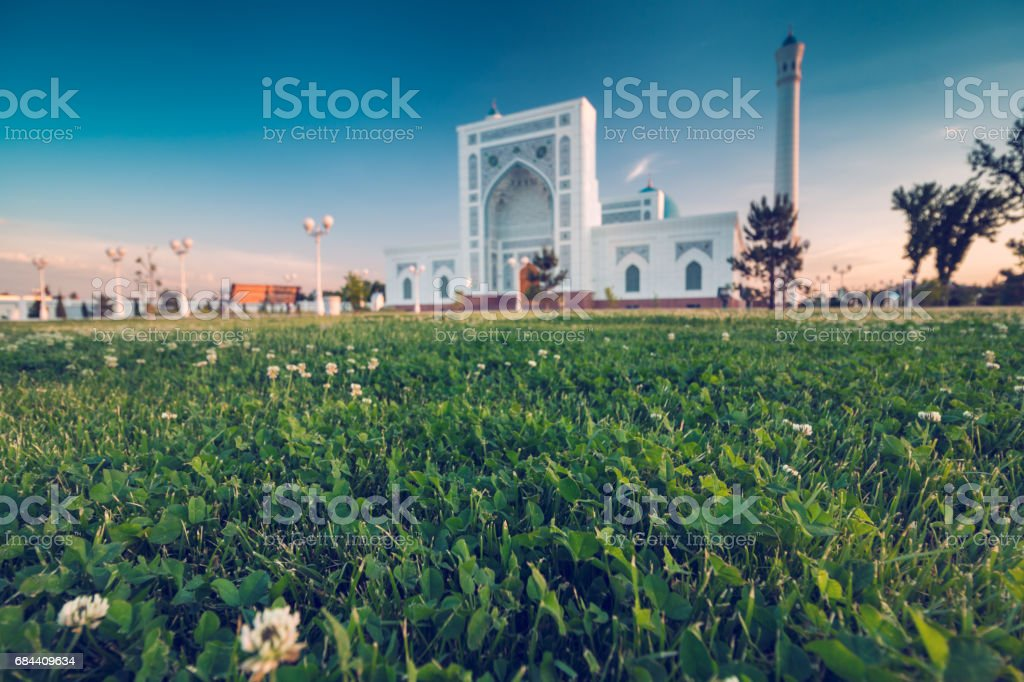 Mosquée au coucher du soleil - Photo