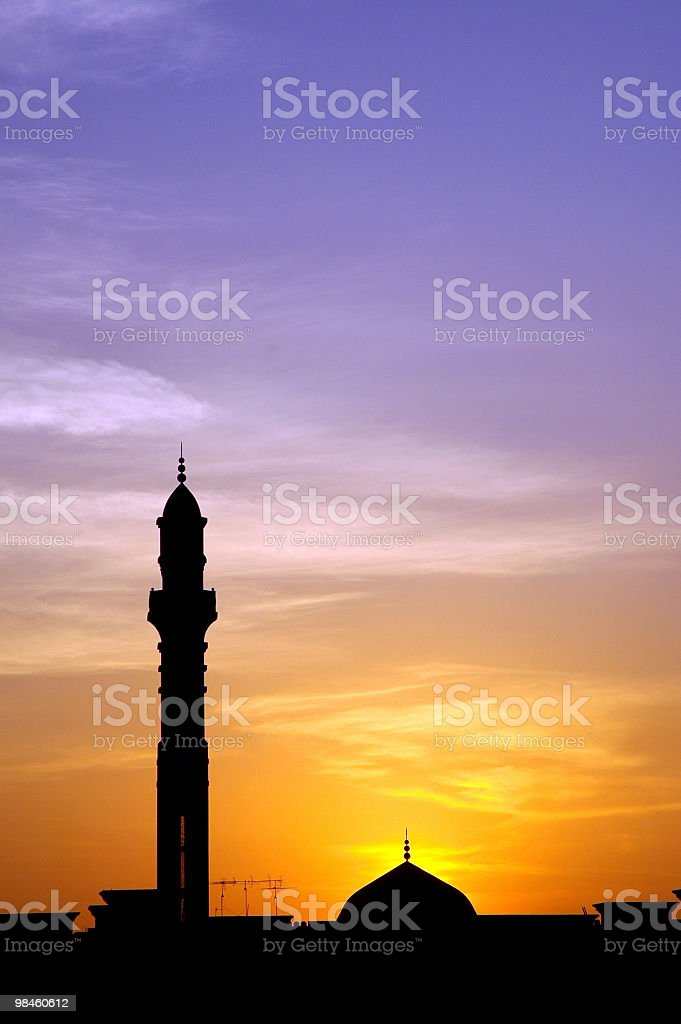 Mosque at Sunset. royalty-free stock photo