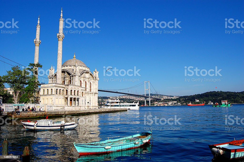Mosque Bosphorus Istanbul stock photo