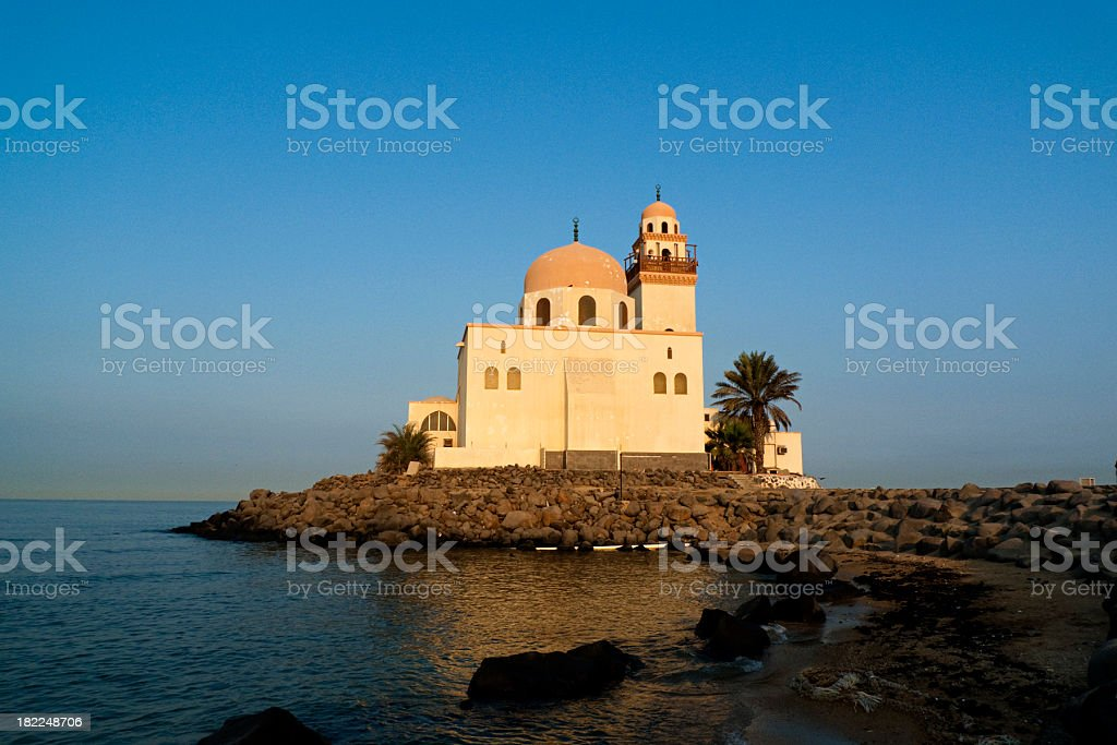 Mosque By Red Sea stock photo