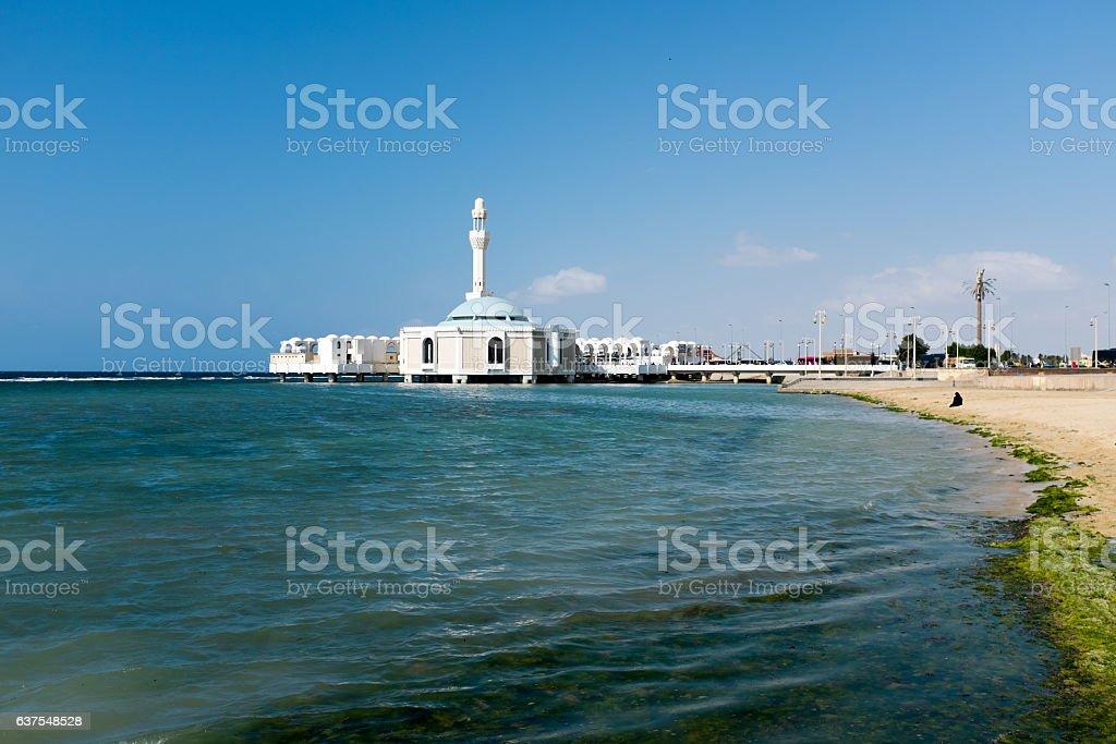 Mosque By Red Sea, Saudi Arabia stock photo