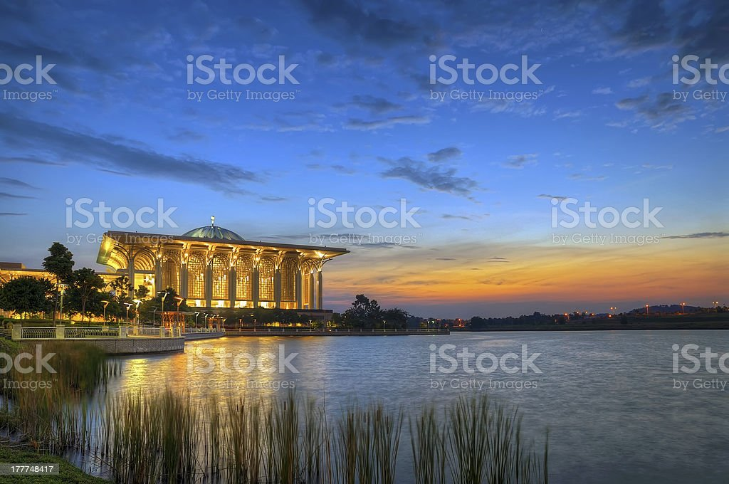 Mosque by the lakeside royalty-free stock photo