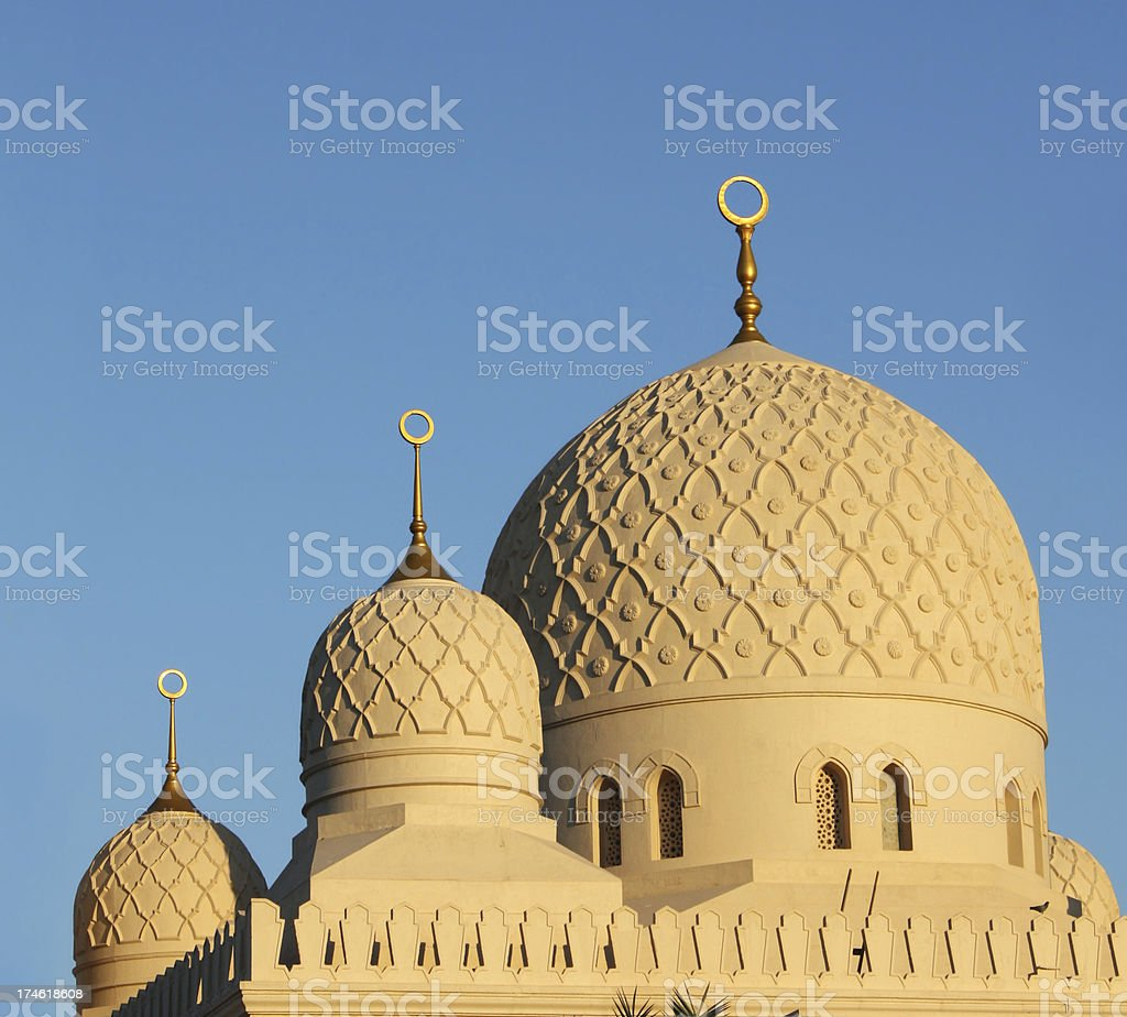 mosque domes stock photo