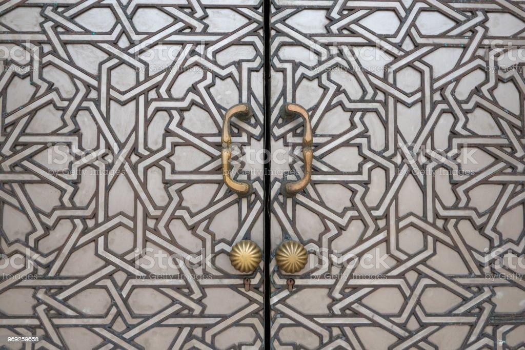 Mosque door close up stock photo