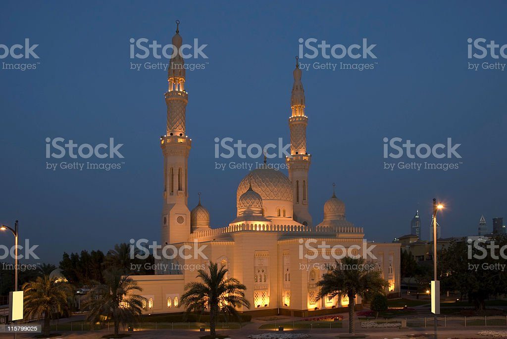 Mosque, Dubai, United Arab Emirates stock photo