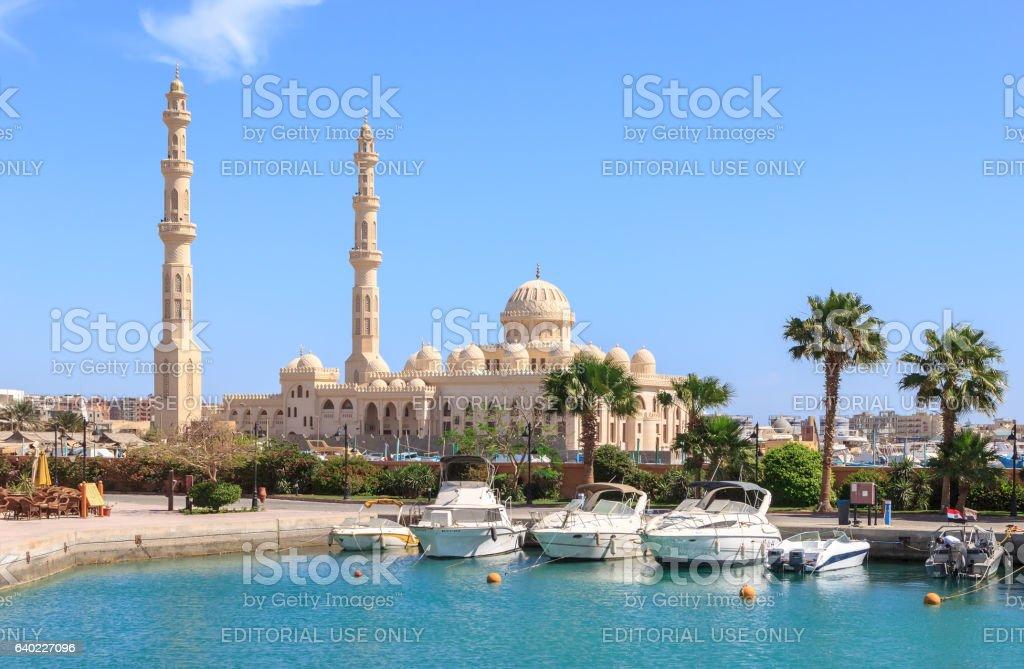 Mosque El Mina Masjid in Hurghada stock photo