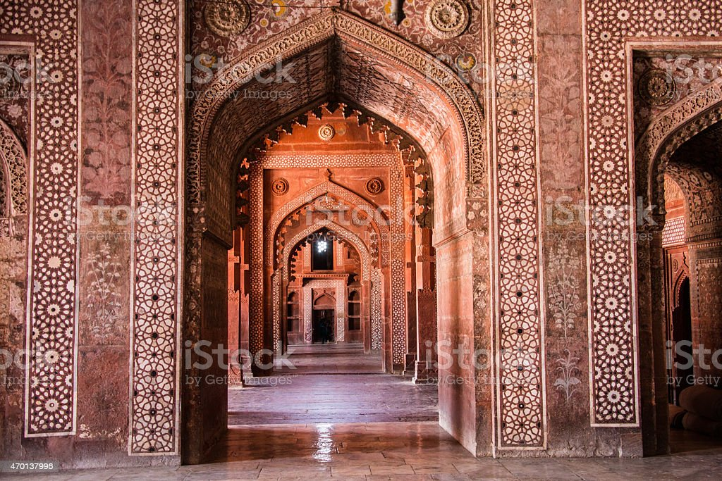 Mosque Fatehpur Sikri India stock photo