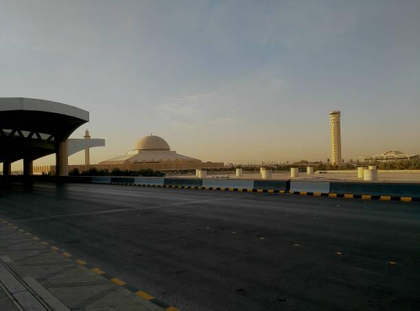 Mosque fo the King Khalid International Airport, Riyadh stock photo