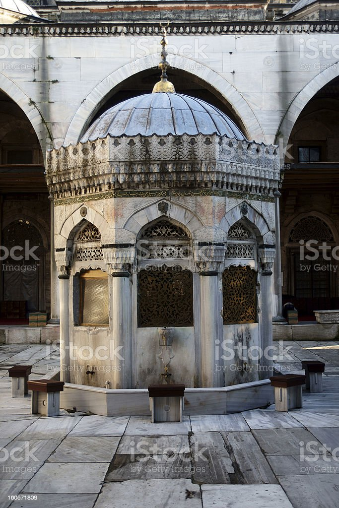 mosque fountain royalty-free stock photo