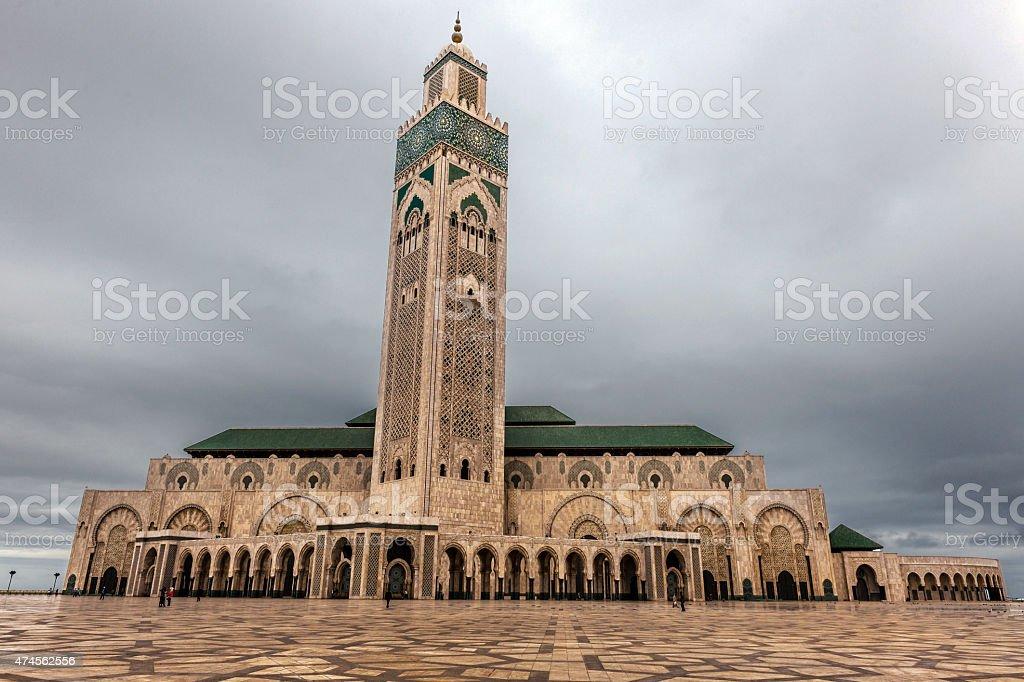 Mosque Hassan Casablanca Morocco,North Africa stock photo