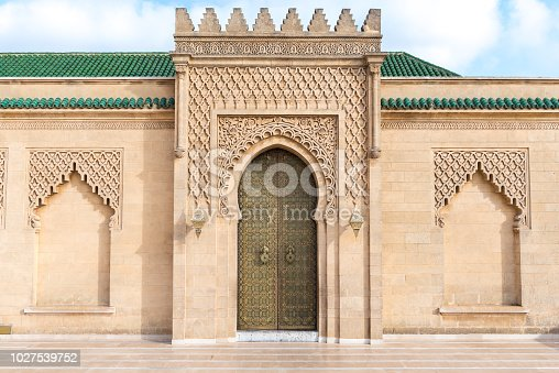Mosque Hassan in Rabat, capital city of Morocco