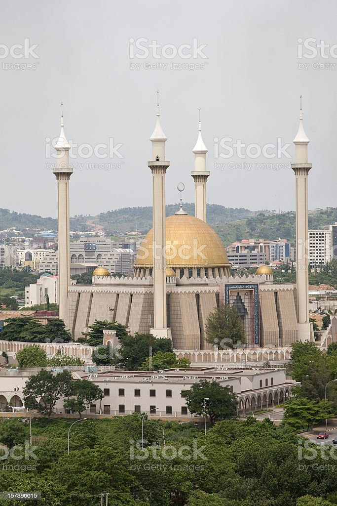 Mosque in Abuja stock photo