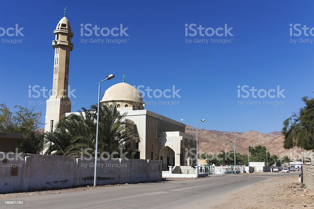Mosque in Dahab stock photo