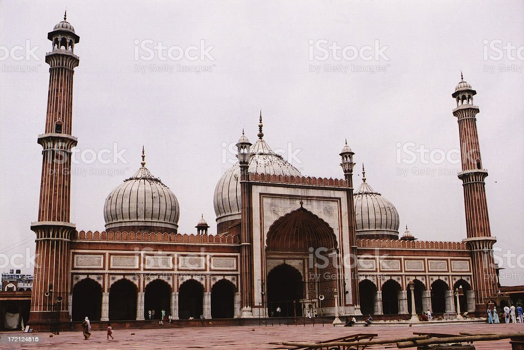 Mosque in Delhi royalty-free stock photo