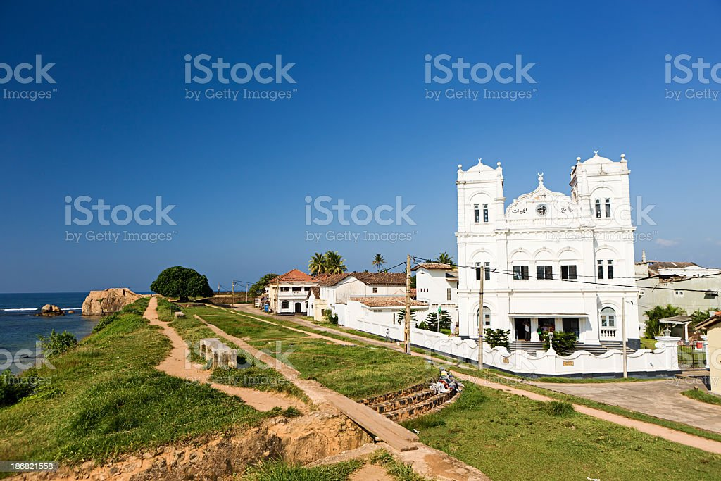 Mosque in Galle fort. Sri Lanka. stock photo