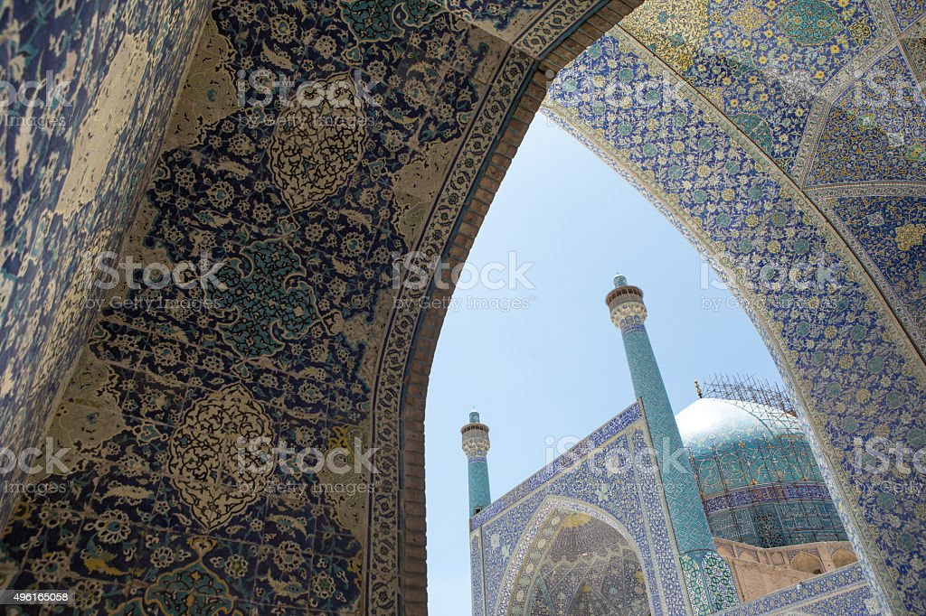 Mosque in Isfahan, Iran. stock photo