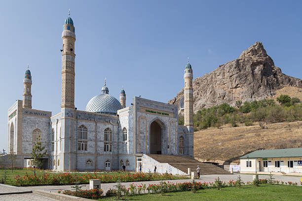 Mosque in Osh, Kyrgyzstan stock photo