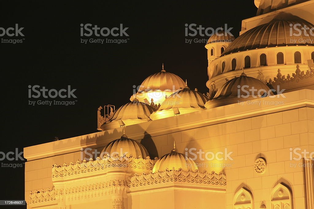 Mosque in Sharja stock photo