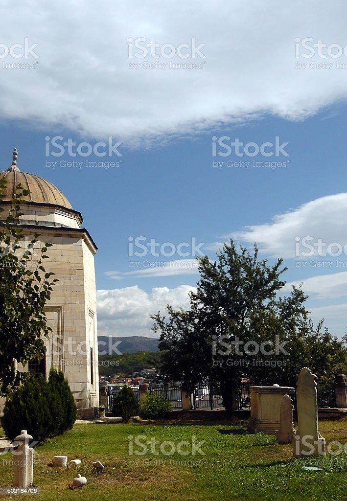 Mosque in Skopje stock photo