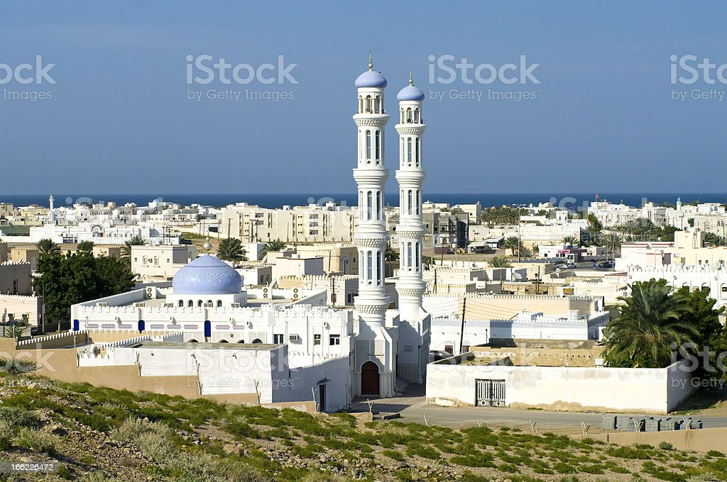Mosque in Sur, Oman stock photo