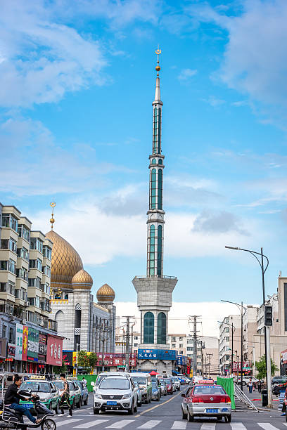 mosque in the centre of Jilin city stock photo