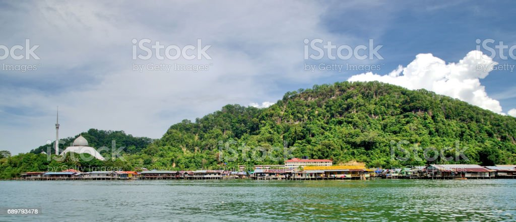 A mosque in the Sandakan, Malaysia, Borneo stock photo