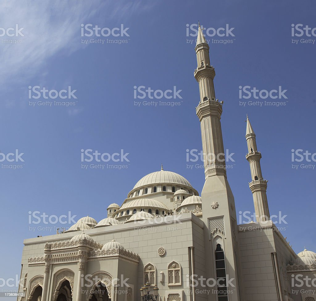 Mosque in UAE royalty-free stock photo